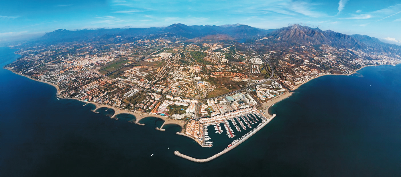 Marbella aerial view